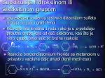 supstitucija hidroksilnom ili alkoksidnom grupom