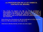 la prescripci n en la ley sobre el contrato de seguro12