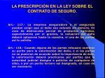 la prescripci n en la ley sobre el contrato de seguro18