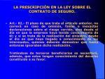 la prescripci n en la ley sobre el contrato de seguro5