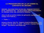 la prescripci n en la ley sobre el contrato de seguro9