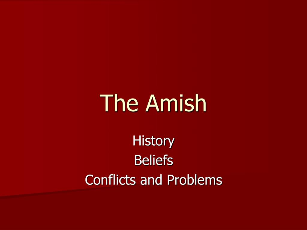 the amish l.