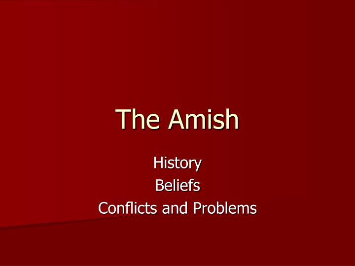 the amish n.