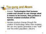 tsu gung and alcorn