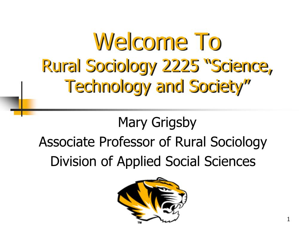 welcome to rural sociology 2225 science technology and society l.