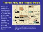 tin pan alley and popular music