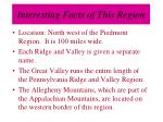 interesting facts of this region13