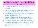 land formation gentle rolling hills