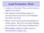 land formation plain