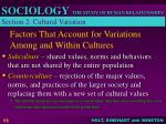 factors that account for variations among and within cultures13