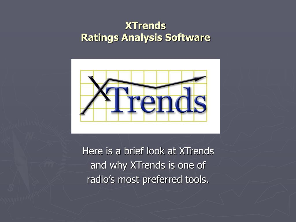 xtrends ratings analysis software l.
