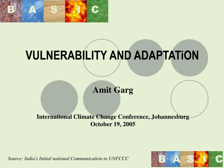 vulnerability and adaptation n.