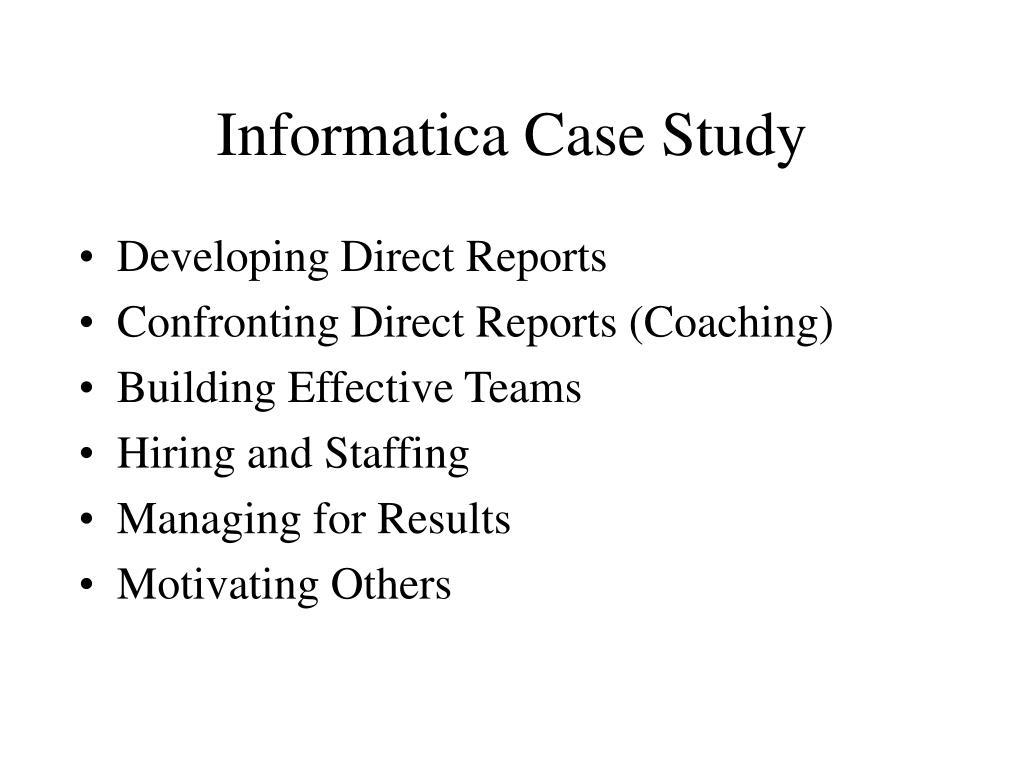 Informatica Case Study