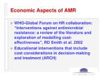 economic aspects of amr