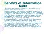 benefits of information audit