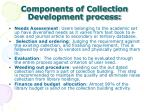 components of collection development process