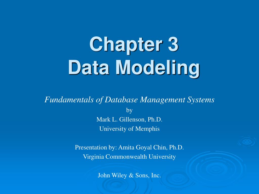 chapter 3 data modeling l.