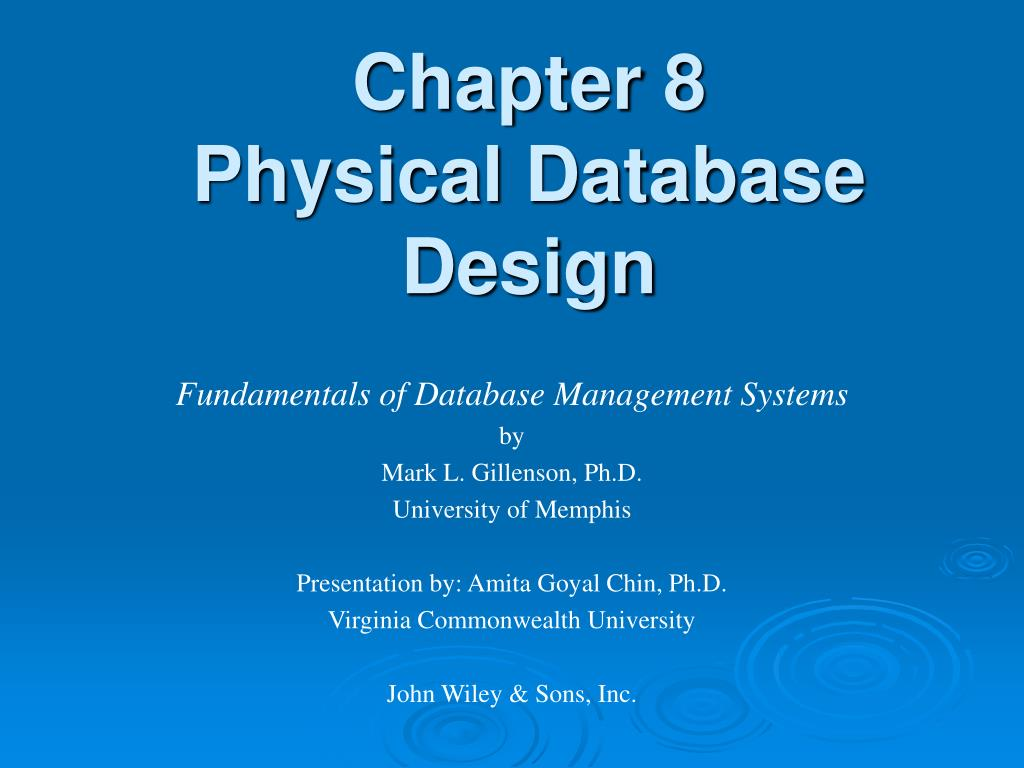 chapter 8 physical database design l.