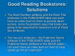 good reading bookstores solutions