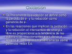 oxidaci n