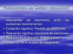 reacciones de oxido reducci n