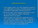application procedure14