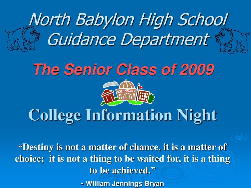 north babylon high school guidance department l.