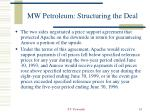 mw petroleum structuring the deal24