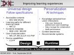 improving learning experiences