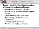 learning performance factors