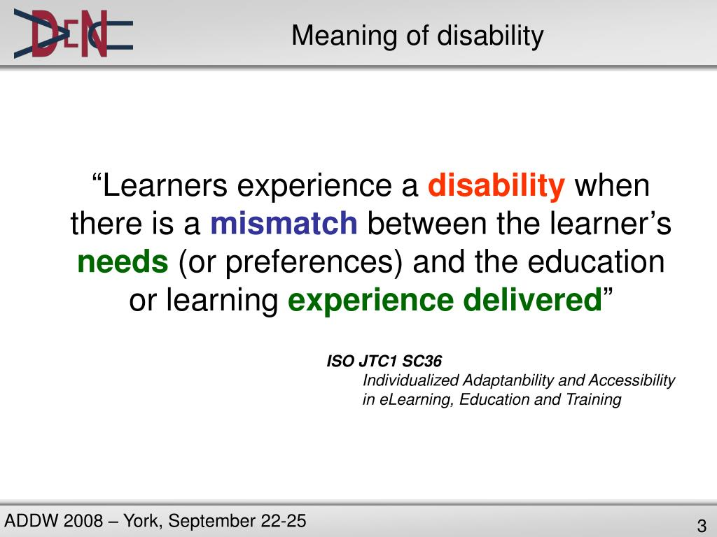 Meaning of disability