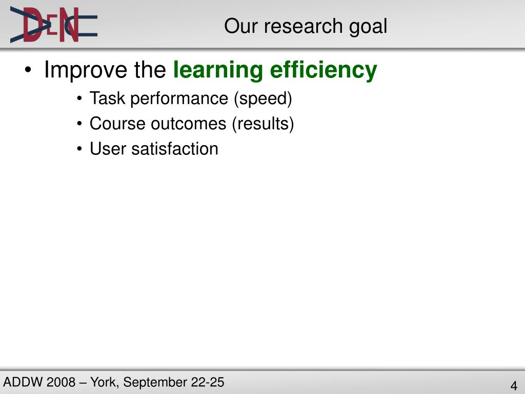 Our research goal