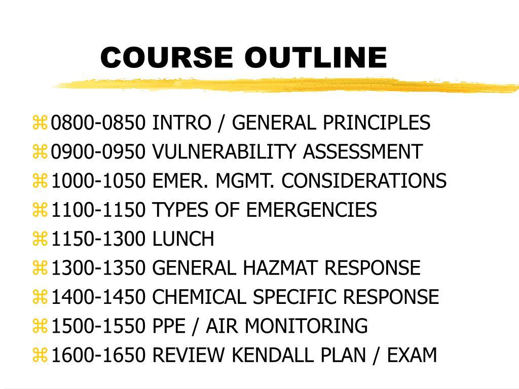course outline l.