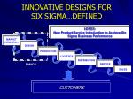 innovative designs for six sigma defined