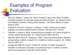 examples of program evaluation