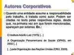 autores corporativos