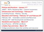 examining e safety online sessions start at 11am