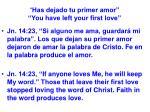 has dejado tu primer amor you have left your first love23