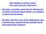 has dejado tu primer amor you have left your first love26