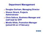 department management