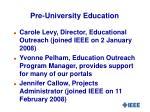 pre university education