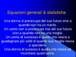 equazioni generali statistiche
