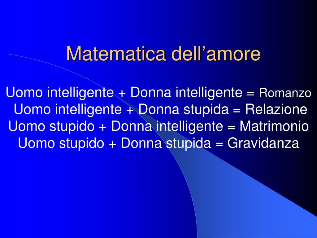 matematica dell amore l.