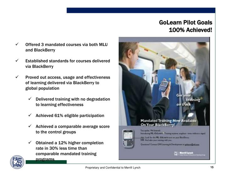 GoLearn Pilot Goals
