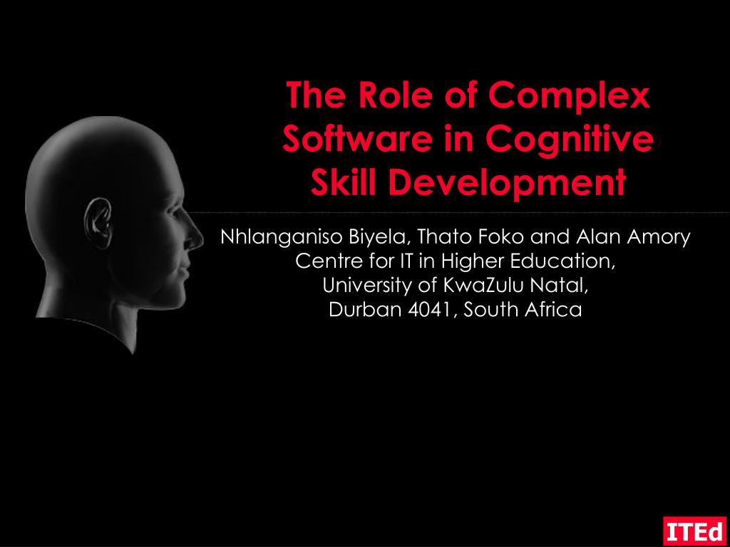 the role of complex software in cognitive skill development l.
