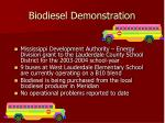 biodiesel demonstration