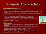 commercial ethanol activity