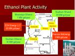 ethanol plant activity