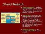 ethanol research