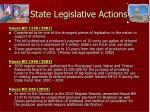 state legislative actions